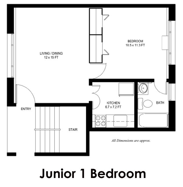 Floor Plans | Swansen Apartments | Arlington - Rosslyn ...